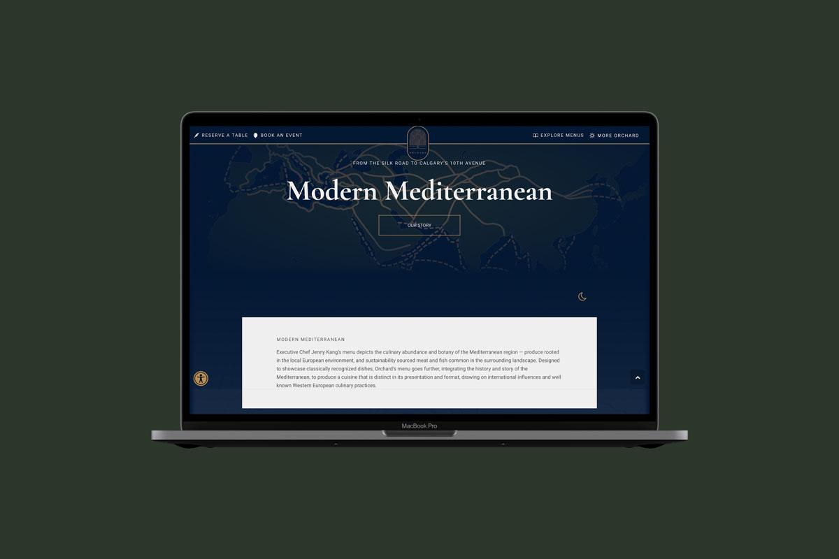 Orchard Website Mockup