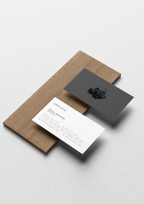 Shelter Business Card Design