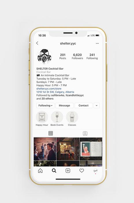 Shelter Social Media - Instagram